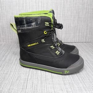 Merrell Snow Bank 2.0 Waterproof Boots Sz 4Y